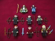 LEGO LOTR Minifigures Lot.Elves,Legolas,Elrond,Taurel, Arwen, Bows, Weapons