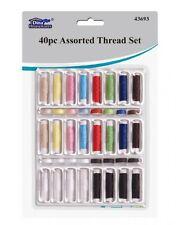 40pc conjunto de carrete hilo de coser surtido colores poliéster Craft Bobina Cotton Reel