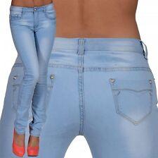 Markenlose indigo/dark-wash Damen-Bootcut-Jeans niedriger Bundhöhe (en)