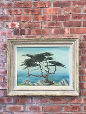 "Carmel California Oil Painting By Gene Grant. Signed. ""Carmel Cypress"" C1950's"