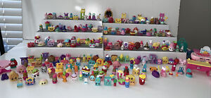 Shopkins Lot Over 200 Shoes, Furniture, Food, Stackable Perfect Condition Moose
