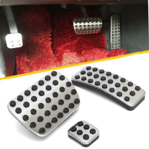 Stainless Foot Gas Brake + Pedal Pads Covers For Mercedes Benz M GL R Class