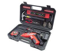 39 Pc Rechargable Electric Screwdriver Tool Bit Kit Hammer Hex Key Tape Measure