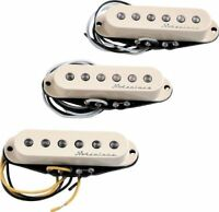 Genuine Fender Hot Noiseless AGED WHITE Stratocaster Pickup Set - 099-2105-000
