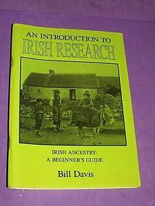 An Introduction To Irish Research : Bill Davis : Ancestory Guide PB Book 1992(EE