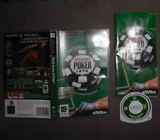 Sony PSP Playstation Portable WORLD SERIES OF POKER 26 Tornei ACTIVISION Manuale