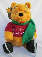 "Disney 2000 Winnie-the-Pooh with Ice Skates, Sweater, Scarf-13"" Plush Stufffed"