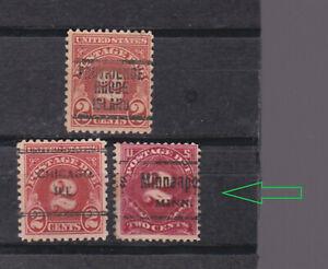 US 1930/1 three pre-cancel p.due stamps          p2468
