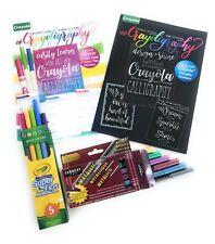 Crayoligraphy Beginner Hand-Lettering 2 Book Bundle Super Tip & Metallic Markers