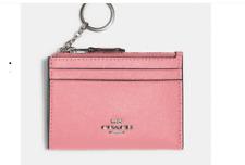 NWT COACH 88250 Mini Skinny ID Card Case Wallet Case Pink Lemonade $78