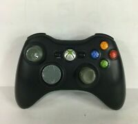 Microsoft Xbox 360 Wireless Black & Gray Controller - Tested! No Battery Pack
