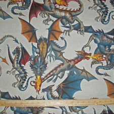 Cotton Fabric Alexander Henry Tale of the DRAGON Natural Game of Thrones BTY