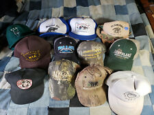 Lot Of 12 Trapping Hats Caps trap fur buyer Top Lot trapper Nafa Olson Nta Lure