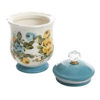 PIONEER WOMAN Floral Canister Flour Sugar Pot Food Storage Stoneware Jar w/ Lid