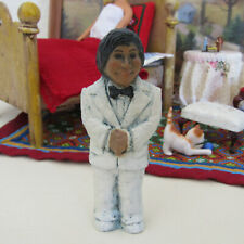 Vtg Dollhouse MAN DOLL Groom Wedding Cake Topper Musician Hispanic? Latino? 4''
