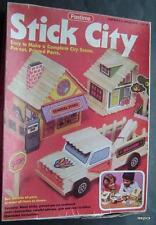 1981 STICK CITY by Pastime Popsicle Sticks Pre-cut City Scene Kit