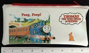 Thomas The Tank Engine & Friends Plastic Pencil Pouch Bag + Ruler -1992 - Rare -