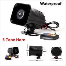 12V 30W Super Loud Motorcycle Siren Horn Three Tone Sound Alarm Horn Waterproof