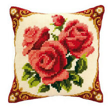 Vervaco - Cross Stitch Cushion Front Kit - Red Rose - 1200/614