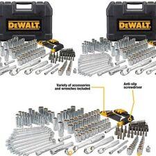 Dewalt 205 Pcs Mechanics Tool Set Universal SAE Metric Ratchet Socket Kit Case