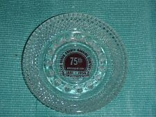 Clear Glass Ash Tray-75th Anniversary 1881-1956 Ohio Vintage Collectible