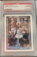 1992 Topps Basketball Shaquille O'Neal ROOKIE RC #362 Shaq PSA 10 GEM MINT