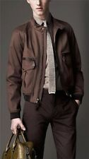 NWT BURBERRY LONDON $1995 MENS LEATHER TRIM JACKET COAT SZ SMALL MADE IN ITALY