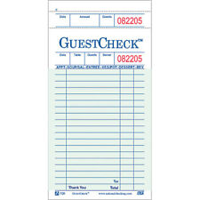 Guest Check, Single Copy, Thick Paper, 1 Book of 50 Checks