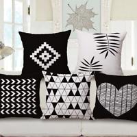 Cotton Linen Car Sofa Bed Decor Simplicity Waist Cushion Pillow Case Cover Home