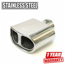 Universal Car Exhaust Tip Muffler Trim Pipe Chrome Stainless Steel Durable