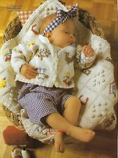 Baby Alphabet Blanket and Cardigan knitting pattern 4 -9 months D.K. (61)