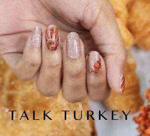 Color Street  100% Nail Polish Strips - Talk Turkey LIMITED EDITION HTF RETIRED