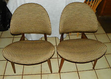 Pair of Walnut Mid Century Modern Chairs / Retro Chairs  (SC246)