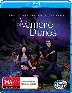 Vampire Diaries : Season 3 (Blu-ray, 2012, 4-Disc Set)*Like New*