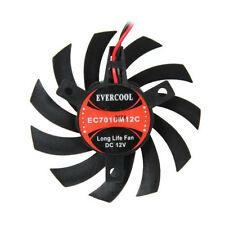 Evercool 70mm Med Speed 12 volt Frameless VGA Card Replacement Fan EC7010M12C