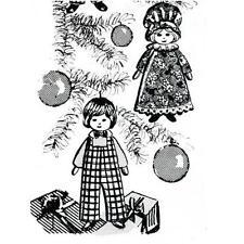 Vintage Christmas Ornament PATTERN 735 Mini Dolls  Boy & Girl dolls 5 inch tall