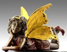 Künstler Bronze KLEINE ELFE ENGEL LIEGEND sign. MILO