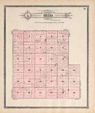 Jerauld County South Dakota 1909 Atlas plat map Genealogy history Dvd P135