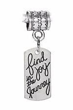 Blessed Inspirational Word Message Dangle Charm for European Bead Slide Bracelet