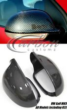 VW Golf MK5 04-08 fibre de carbone Wing Mirror Covers Complet Remplacement TDI R32 GTI
