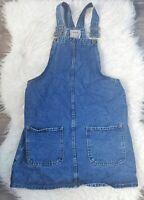 Denim Co Women's Dunagree Pinafore Dress Blue Size 8 100% Cotton Denim Mini VGC