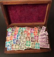 DDR Dienstmarken, 60 nur verschiedene Briefmarken A + B o/**, Katalogwert € 50