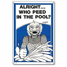 Poolmaster 41330 Who Peed In The Pool Sign for Residential Pools, New, Free Ship