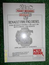 RENAULT EXTRA 1.6L & 1.9L F8M & F8Q DIESEL ENGINE WORKSHOP MANUAL 1991> & 1993>>