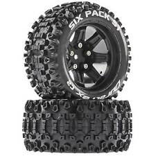 Duratrax Six-Pack ST 2.8 Mounted Tires Black 14mm Hex (2)