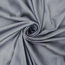"""Grey 57"""" Wide Non-Transparent Cotton Modal Fabric Sewing Apparel By The Metre"""