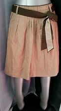 NO Basics SKIRT Beige Brown Gathered Partially Pleated Sz 40/4 Made in Bulgaria