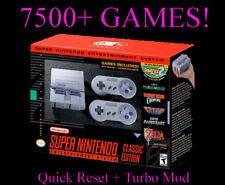 SNES Classic 7500+ Games Super Nintendo Classic - Quick Reset & Turbo Mod!