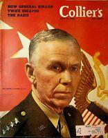 Collier's Magazine July 24 1943 General George Marshall Faith Baldwin Sax Rohmer