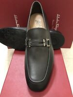 NIB Salvatore Ferragamo Tucker Gray Leather Loafers 9.5EE